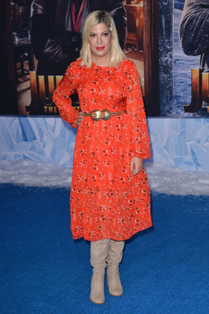 Tori Spelling Premiere Of Sony Pictures' Jumanji: The Next Level