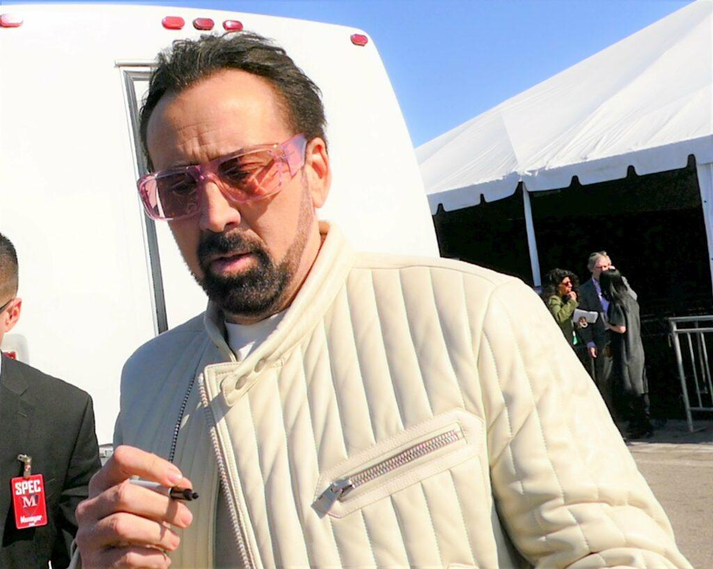 Nicolas Cage Signs For Fans At The Independent Spirit Awards