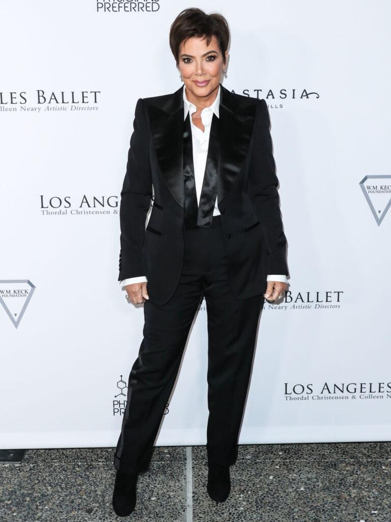 Kris Jenner in black-tie affair