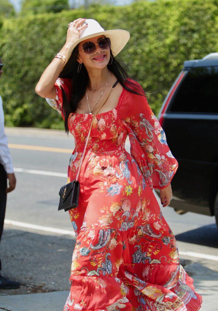 Nicole Scherzinger arrives at the Jennifer Klein Day of Indulgence Event in Brentwood, California