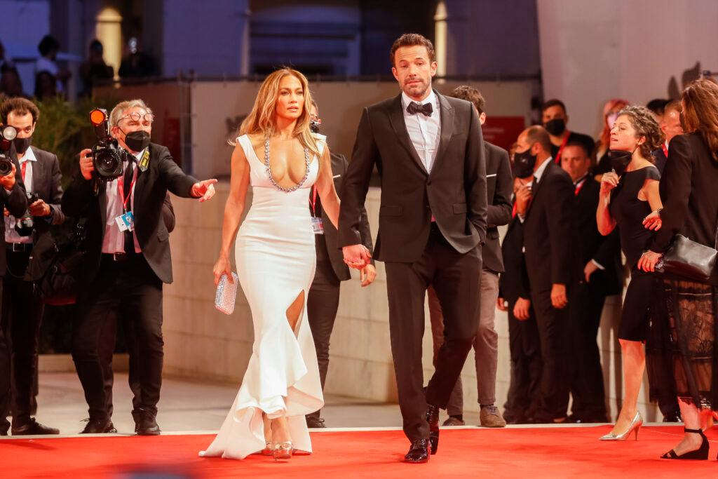 Jennifer Lopez and Ben Affleck Premiere of 'The Last Duel' during the 78th Venice Film Festival at Palazzo del Cinema on the Lido in Venice, Italy,