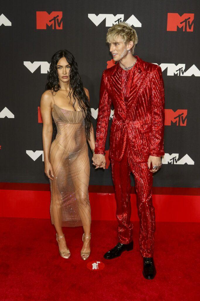 MGK and Megan Fox 2021 MTV VMAs at the Barclays Center Brooklyn in New York City