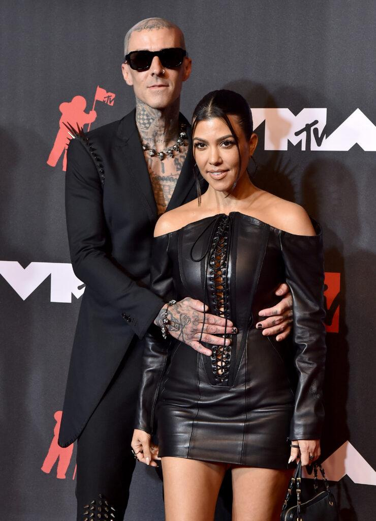 Travis Barker and Kourtney Kardashian at the 2021 MTV Video Music Awards