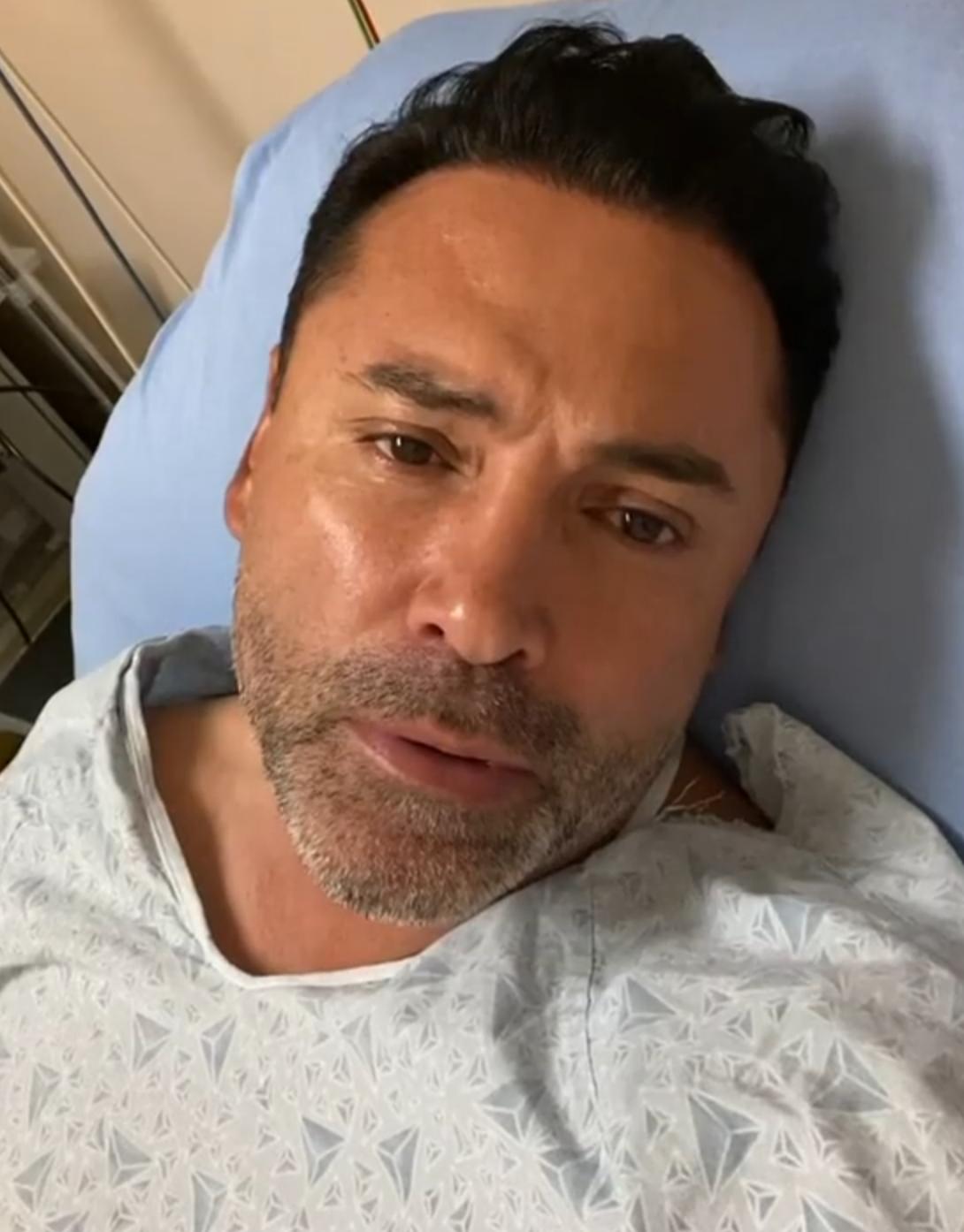 Oscar De La Hoya Hospitalized With COVID-19, 'This Really Kicked My A**'