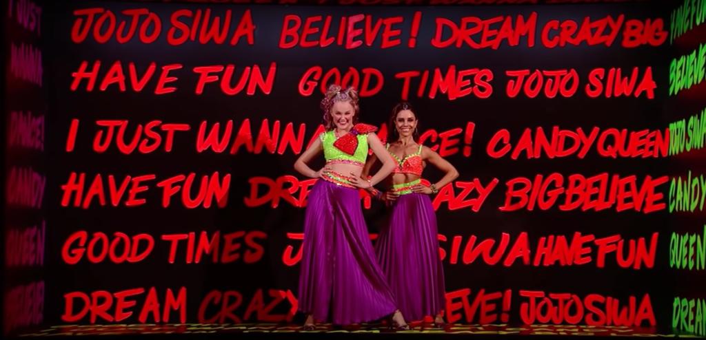 Jojo Siwa with DWTS partner Jenna Johnson