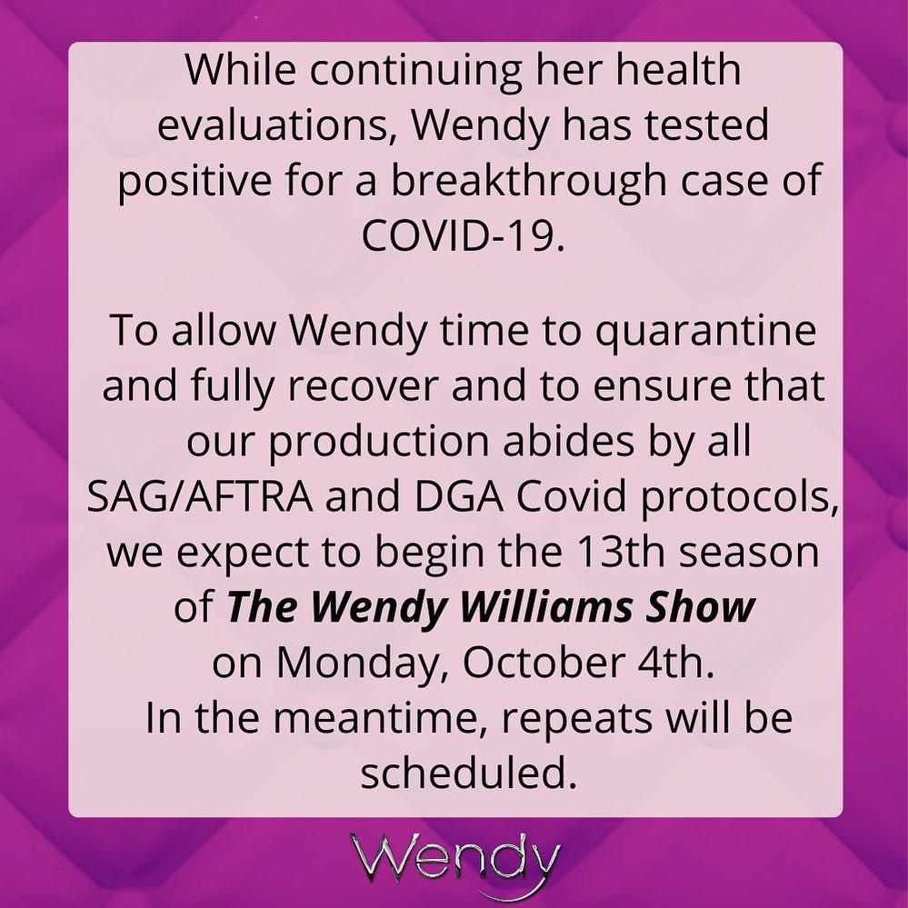 Wendy Williams Suffering From A 'Breakthrough Case' Of COVID-19