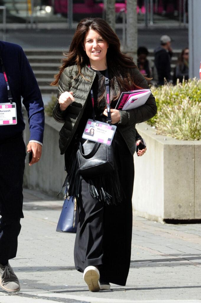 Monica Lewinsky arrives at the TED talks conference in Vancouver Canada