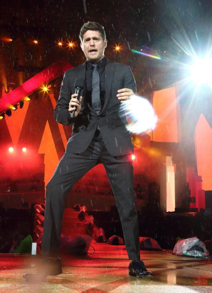 Michael Buble performs live at British Summertime Hyde Park