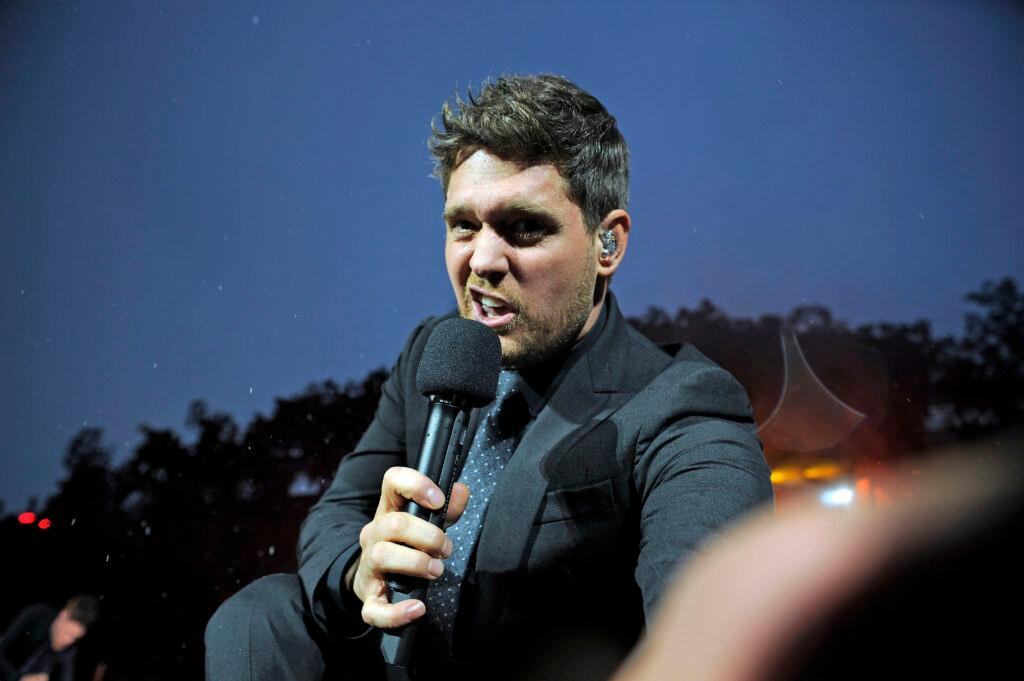 Michael Buble performing at British Summer Time 2018