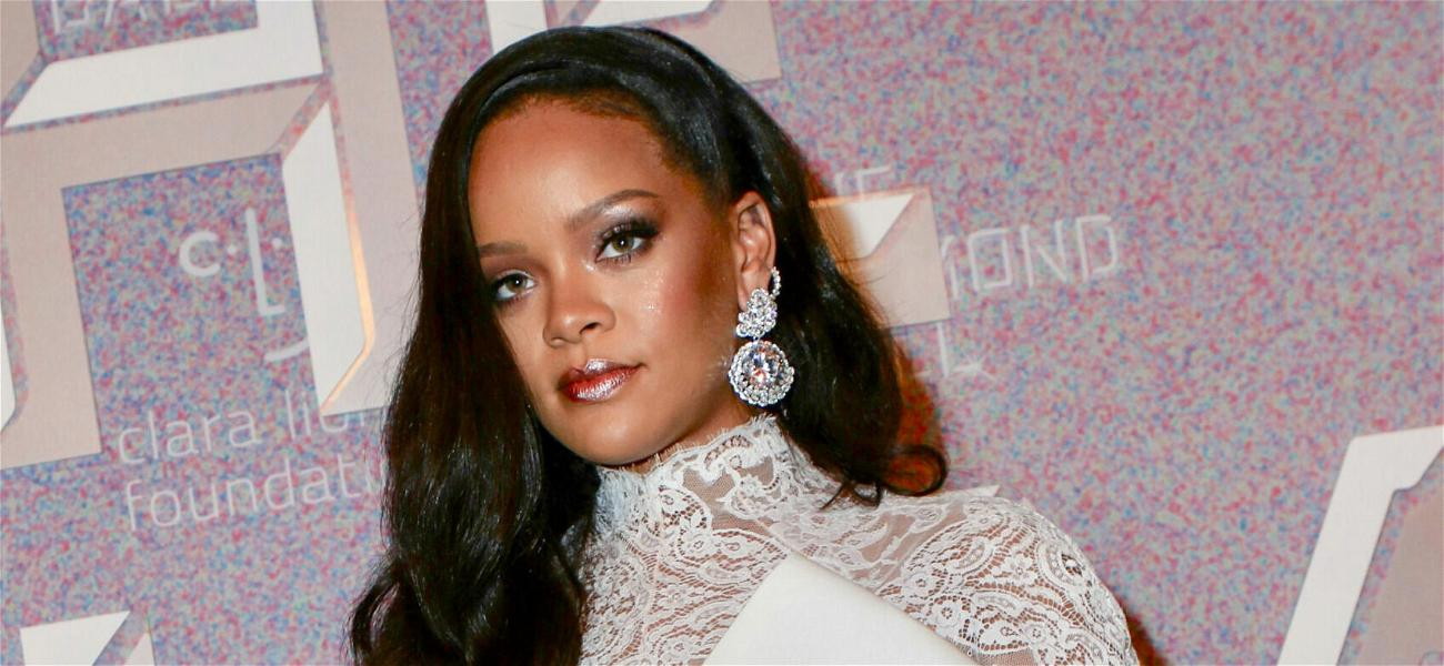 Rihanna Wears Sparkly See-Through Dress To Promote Her Savage X Fenty Show