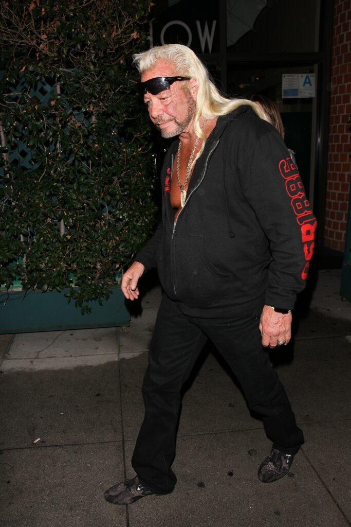 American bounty hunter Duane Chapman is spotted leaving Mr Chow restaurant