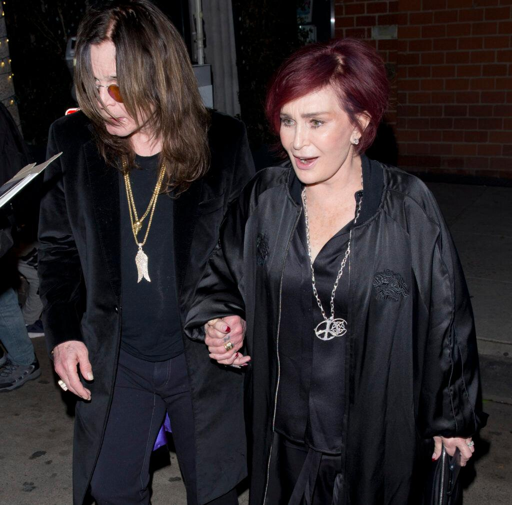 Sharon Osbourne and her Rock legend Husband Ozzy Osbourne were seen leaving Billy idol apos s 63rd Birthday party at apos Mr Chow apos Restaurant in Beverly Hills CA