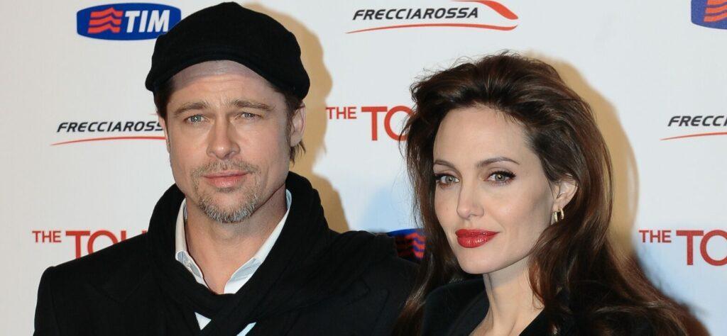 Angelina Jolie and Brad Pitt at The Tourist Rome Premiere