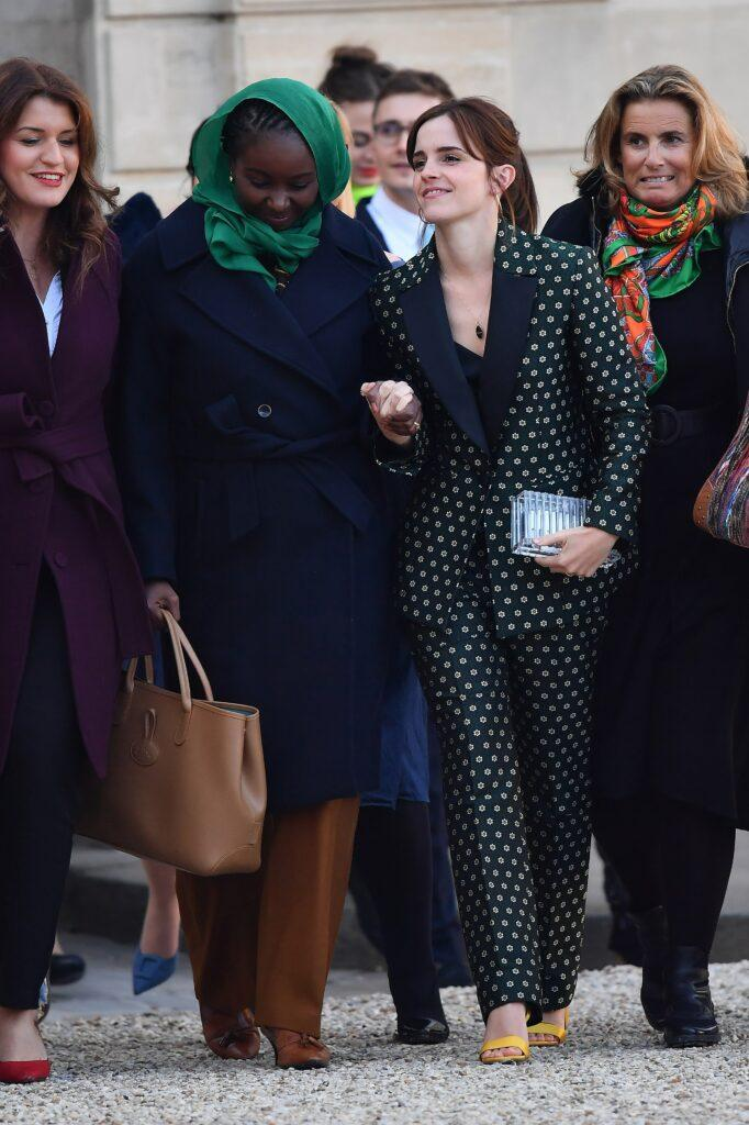 Emma Watson arrives at the Elysee Palace to attend the first meeting of the Gender Equality Avisory Council G7 Biarritz in Paris France on February 19 2019