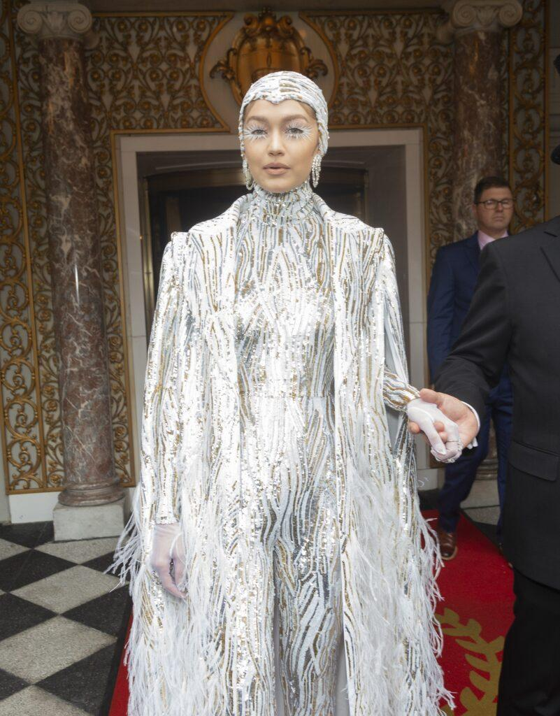 Celebs leave the Pierre hotel for the Met Gala