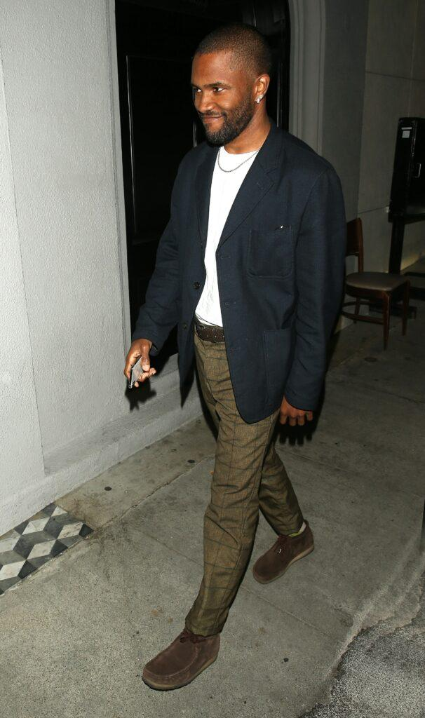 Frank Ocean was seen arriving for dinner at apos Craigs apos Restaurant in West Hollywood CA