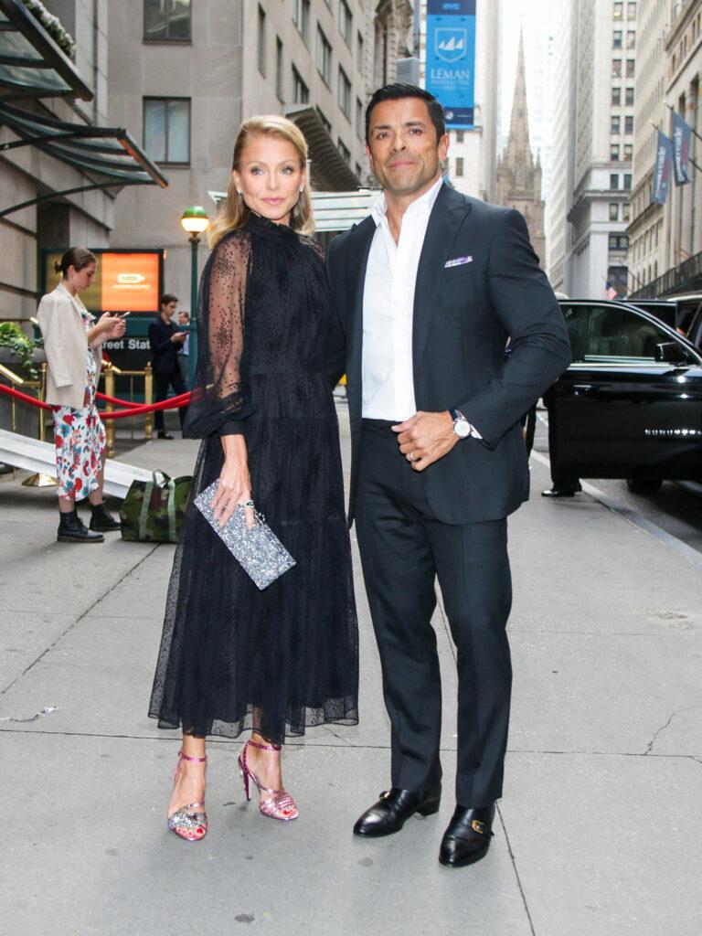 Celebrities outside Wall Street