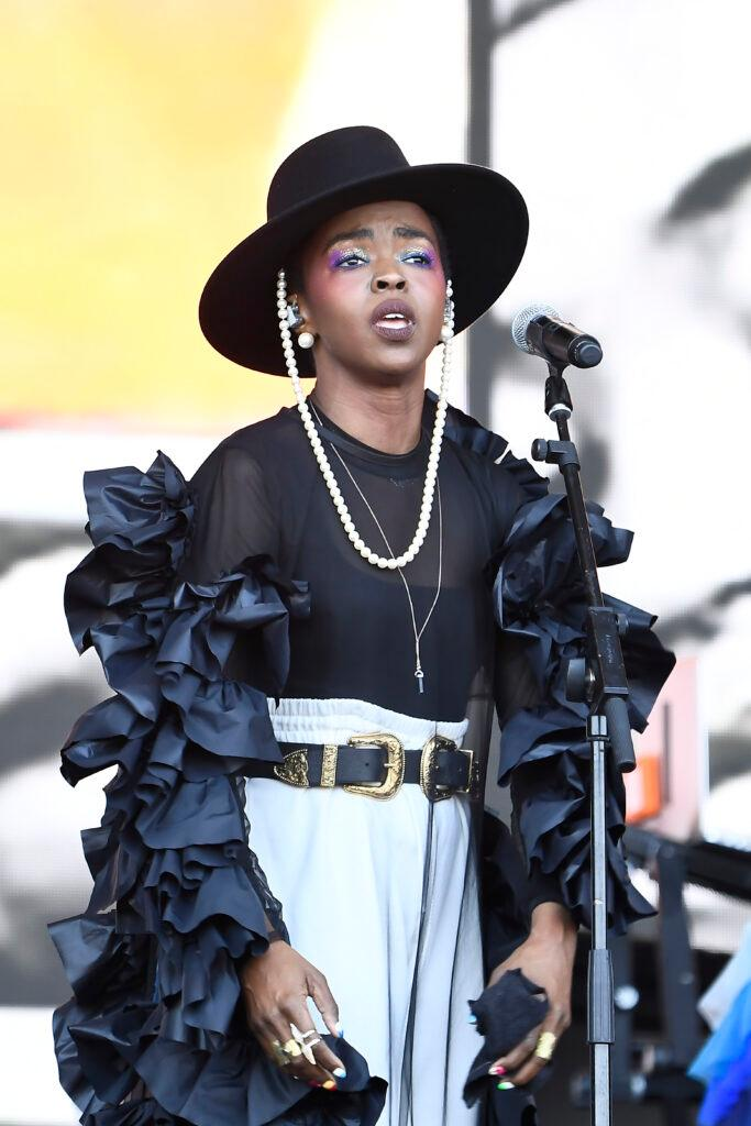 Ms Lauryn Hill performing at Glastonbury Festival 2019