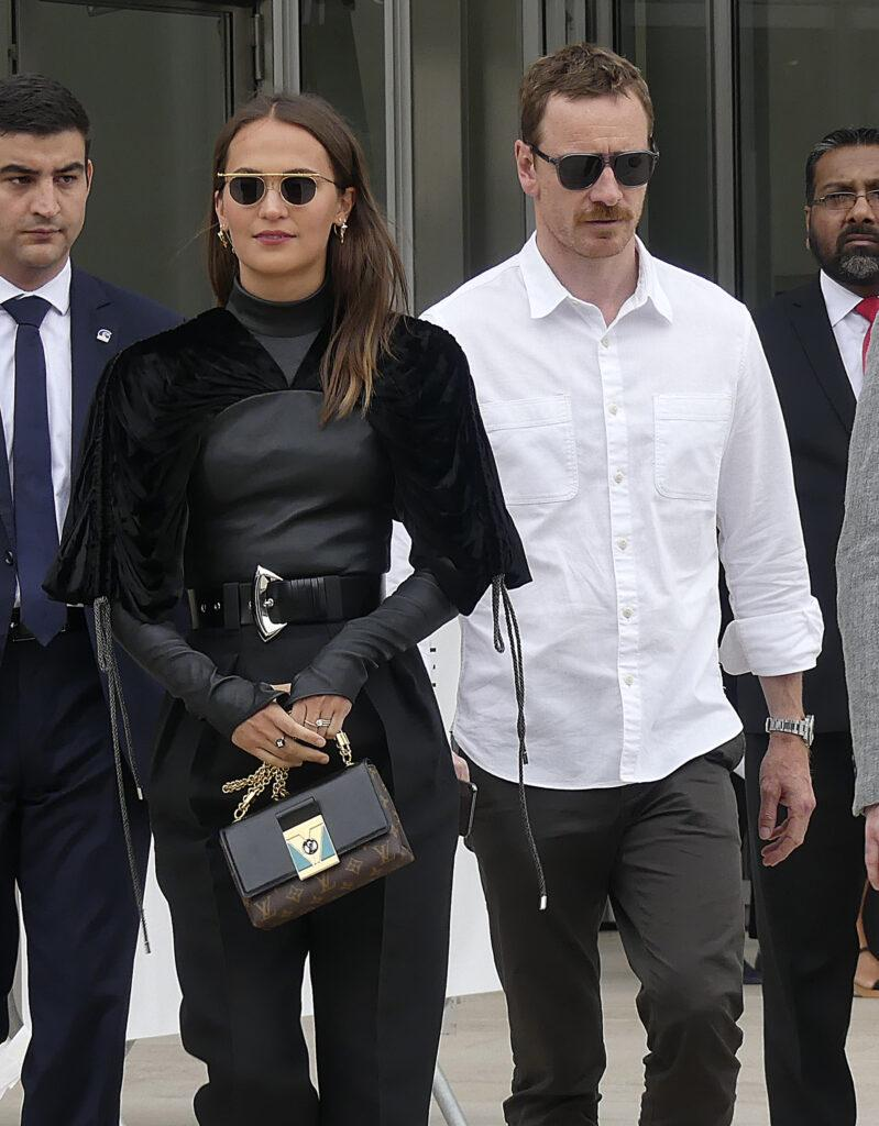 Alicia Vikander and Michael Fassbender seen in Paris