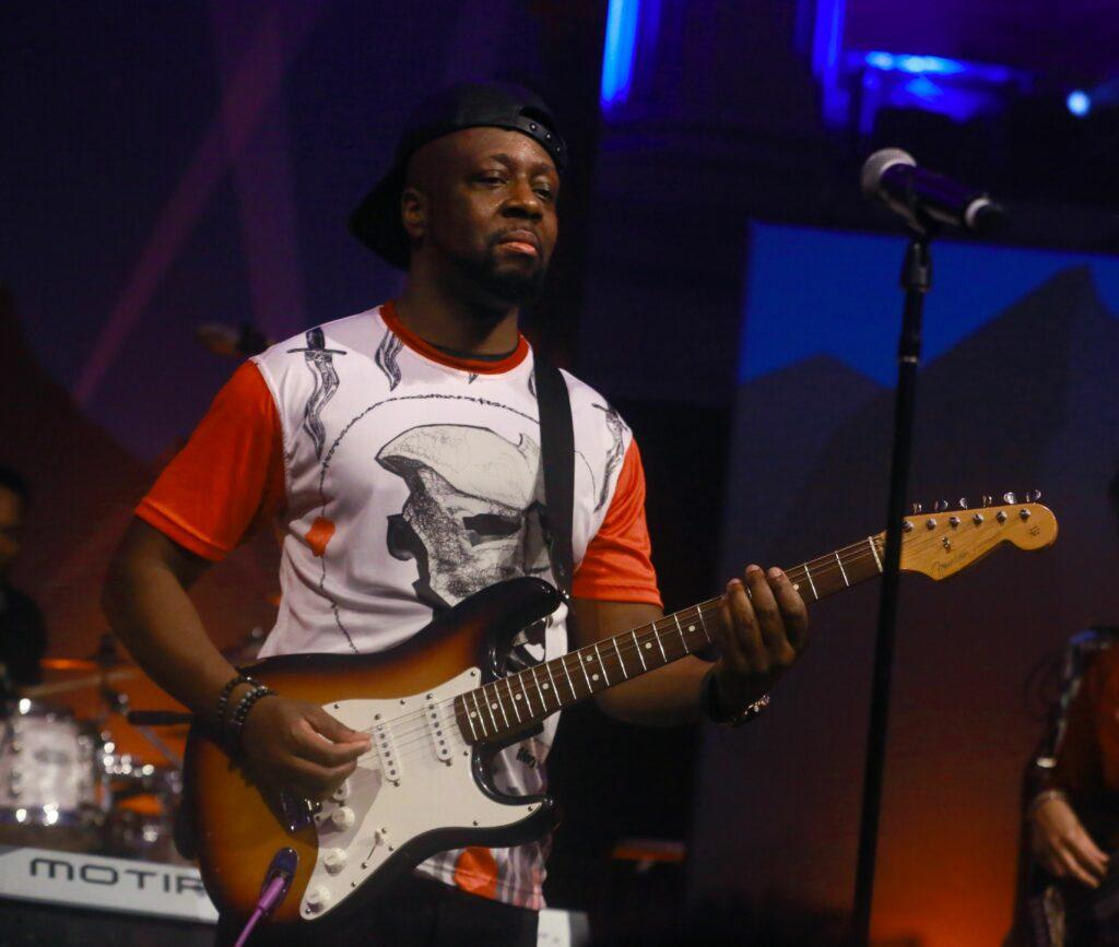Wyclef Jean performs at the annual Salesforce big party