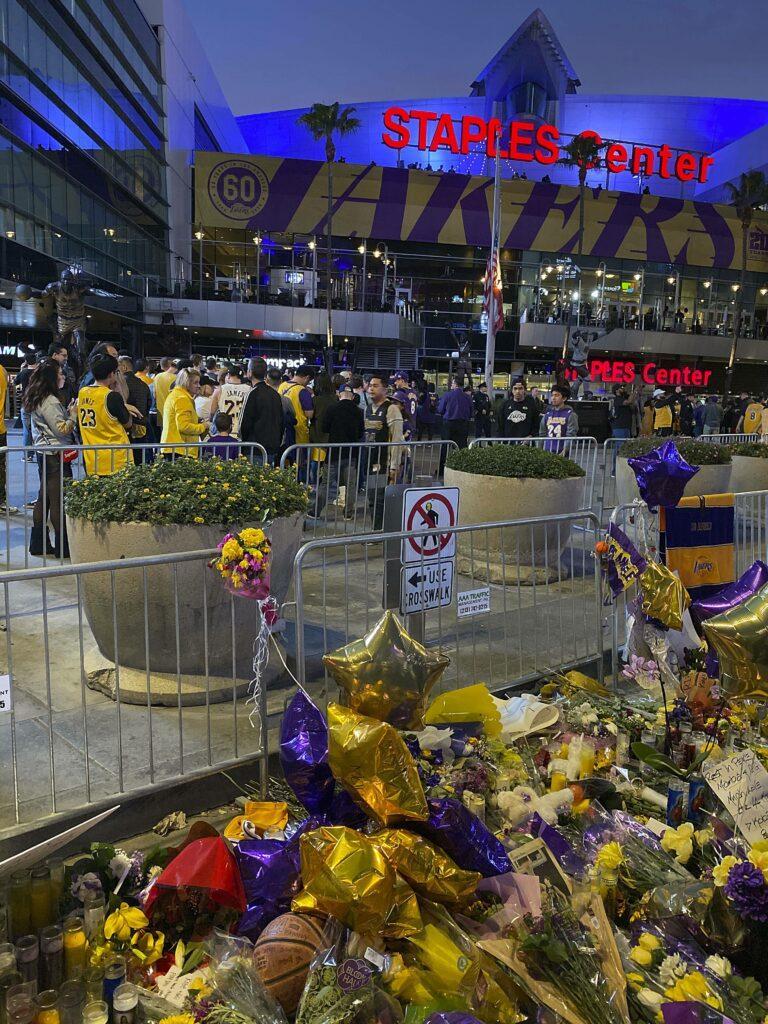 Kobe Memorial outside Staples Center