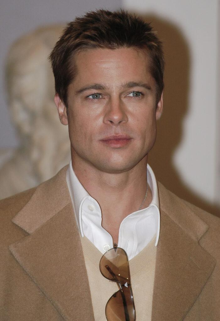 Brad Pitt during the presentation of the movie OCEAN apos S TWELVE
