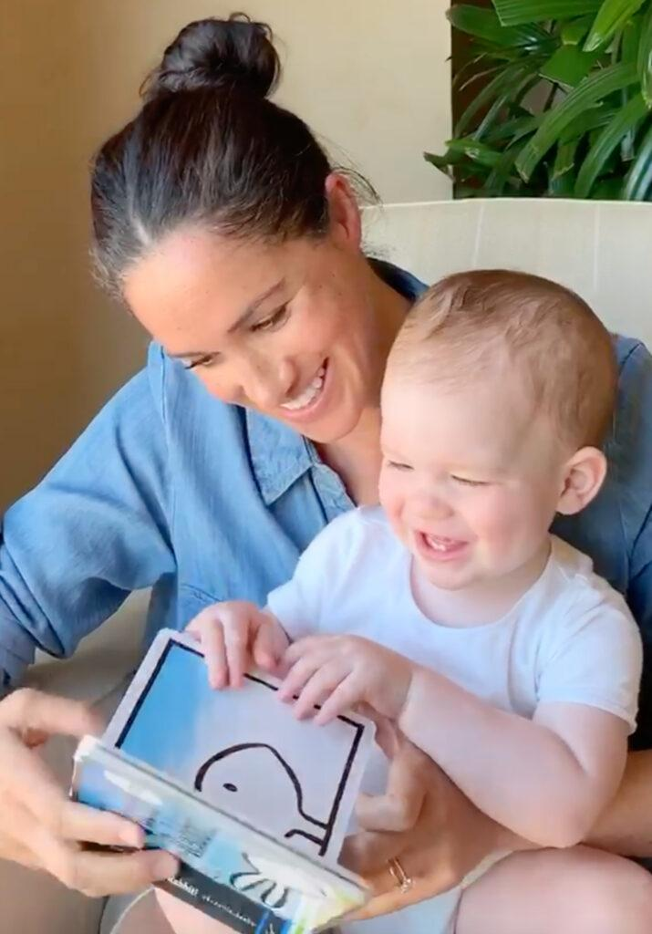 Meghan reads to Archie on his 1st Birthday