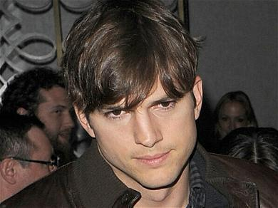 Ashton Kutcher Gets Flustered By Iowa Fans Screaming for Him To 'Take A Shower!'