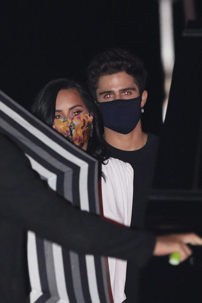 Demi Lovato and Max Ehrich celebrate their engagement by having dinner at Nobu Malibu