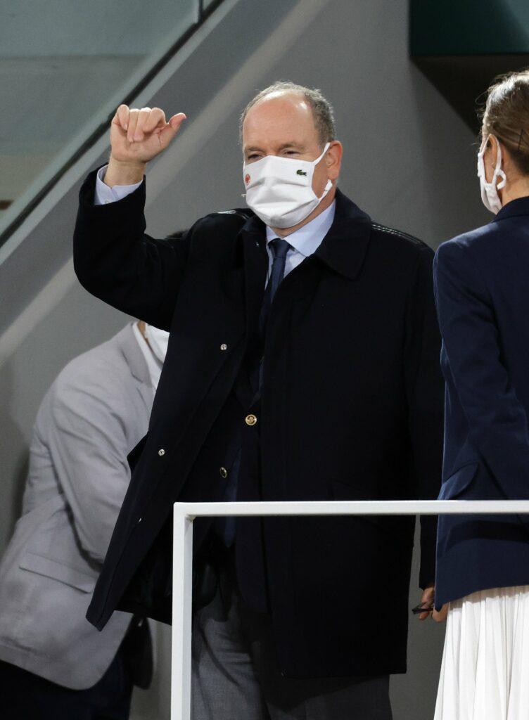 Prince Albert II of Monacoat the Men apos s Final at Roland Garros