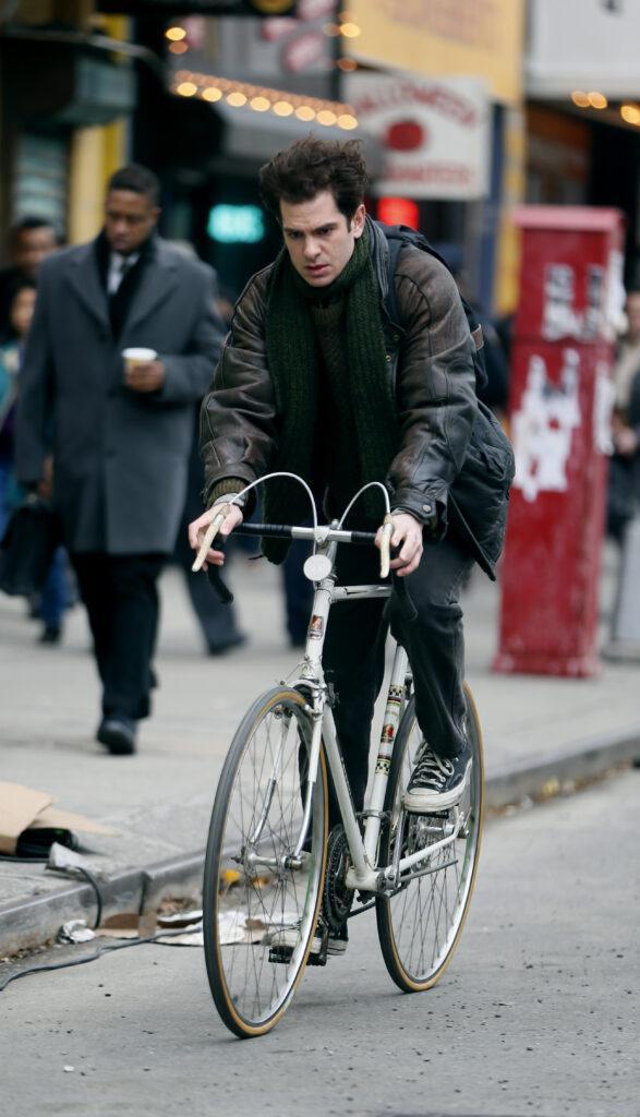 Andrew Garfield filming Lin Manuel Miranda apos s quot Tic Tic Boom quot