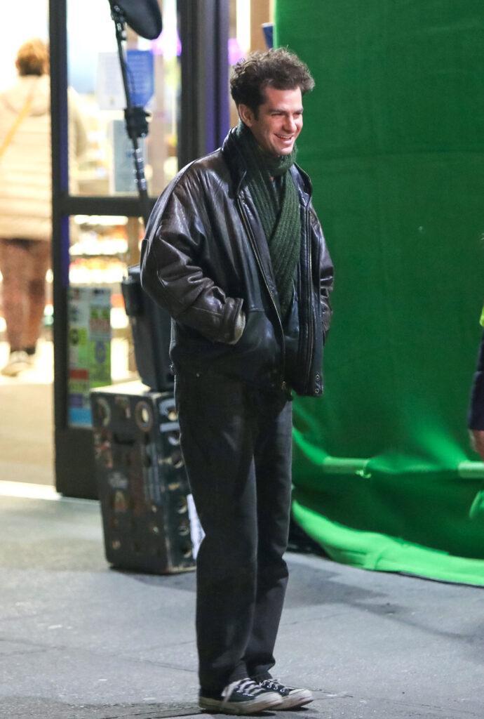Andrew Garfield at movie set of the apos Tick Tick Boom apos