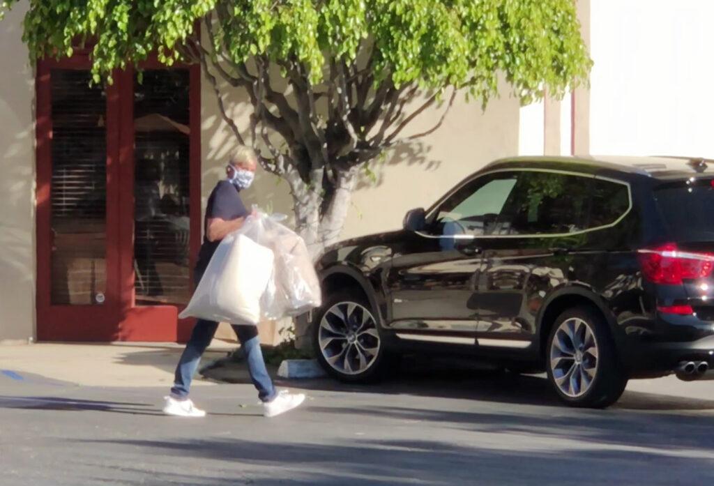 Ellen DeGeneres shops in Santa Barbara