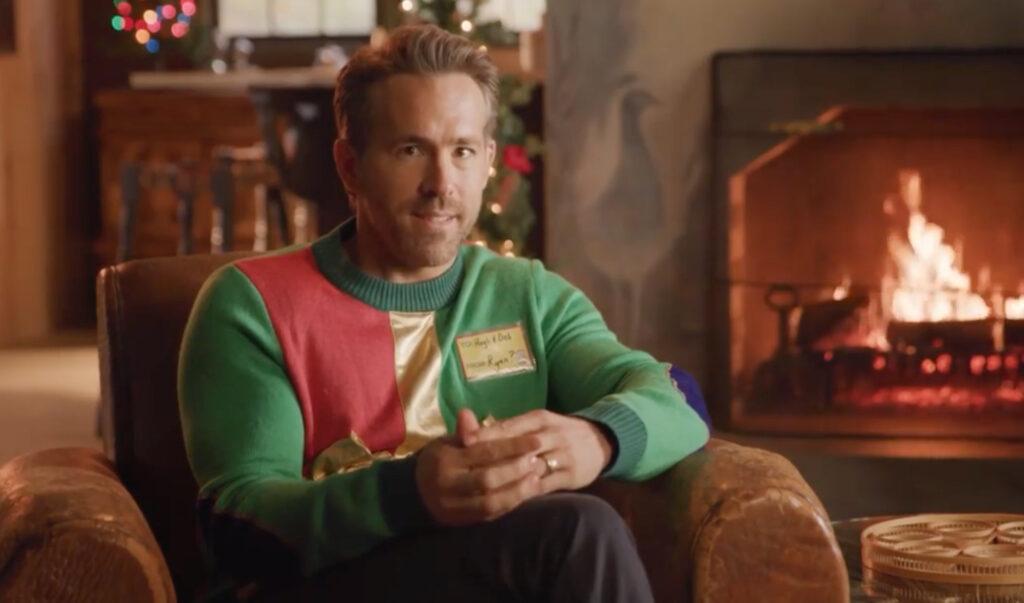 Ryan Reynolds apos ugly Christmas sweater apos on hospital building