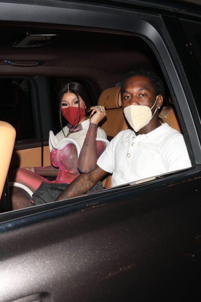 Cardi B amp Offset leaves the Louis Vuitton store in Beverly Hills