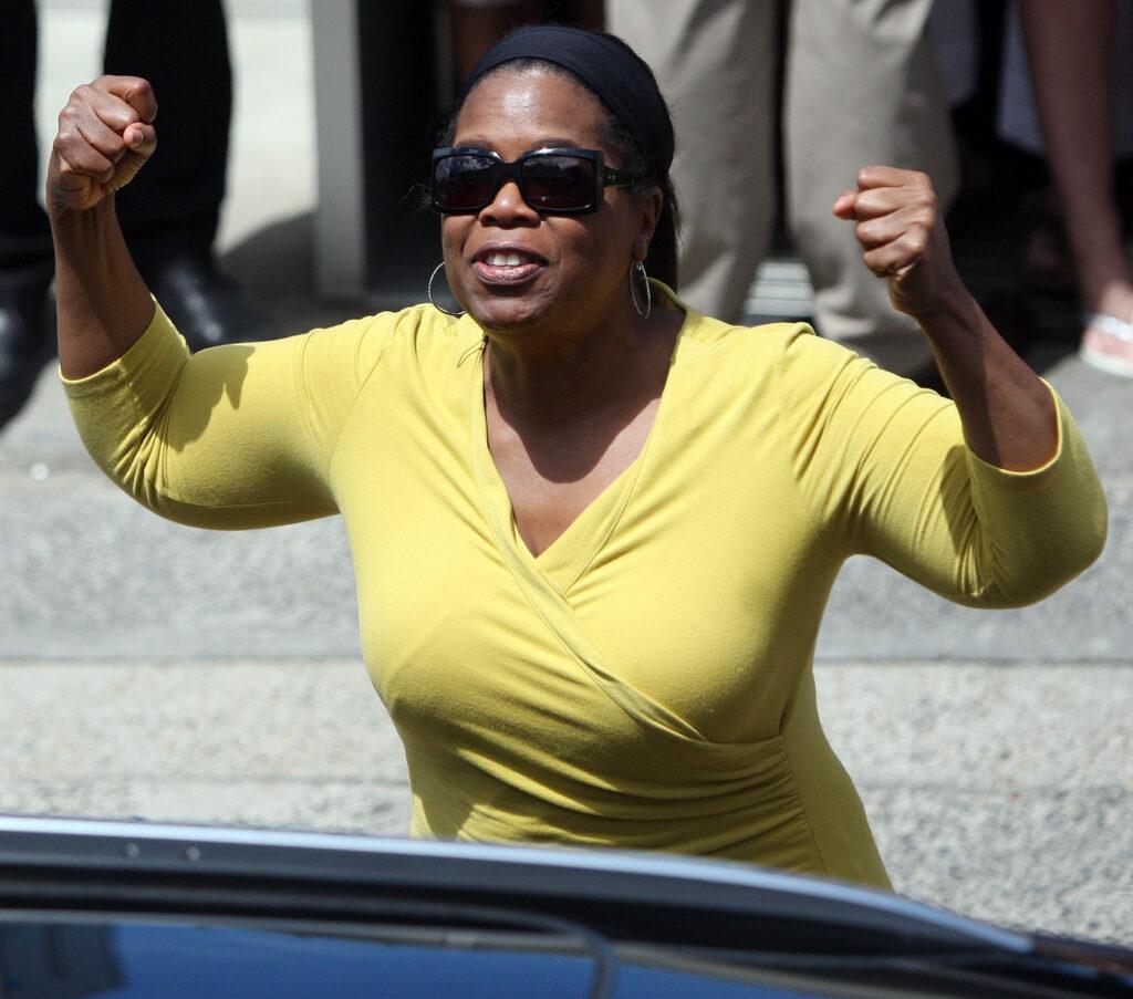 Oprah Winfrey and Gayle King seen leaving Icebergs Restaurant in Sydney Australia
