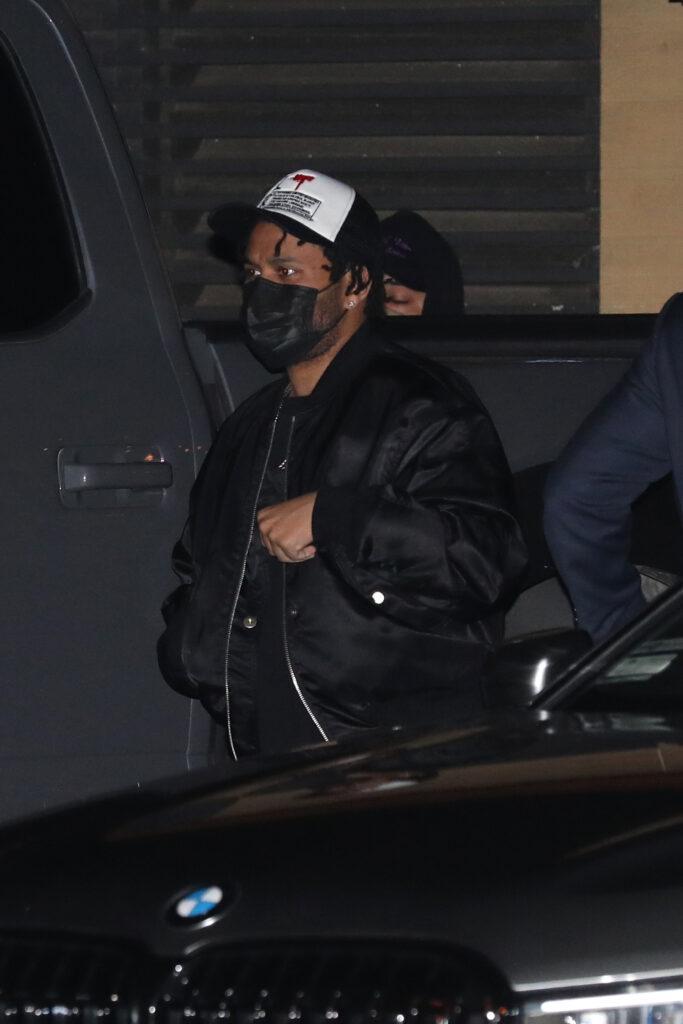 Singer The Weeknd is seen having dinner at Nobu Malibu