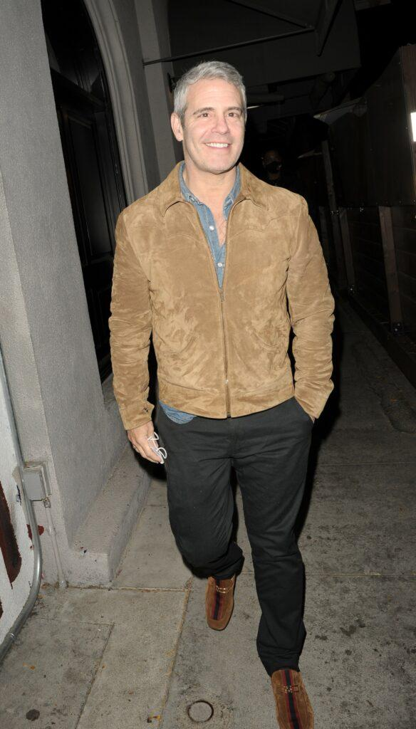 Andy Cohen at Craig apos s in LA for Dinner