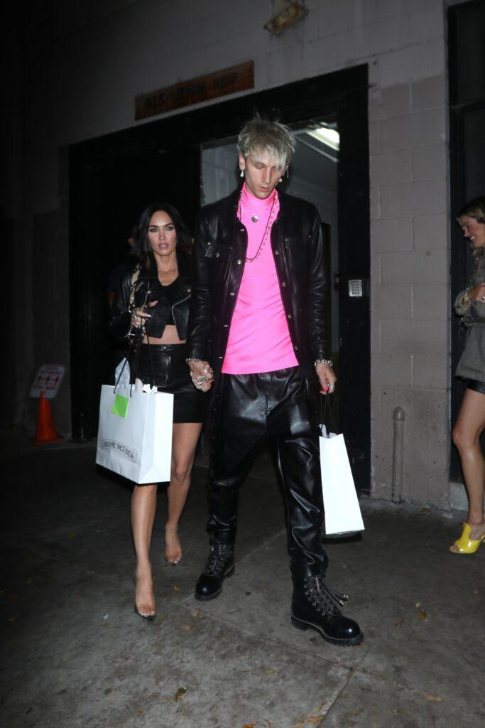 Megan Fox and Machine Gun Kelly attend a Chrome Hearts gifting suite party held in Hollywood
