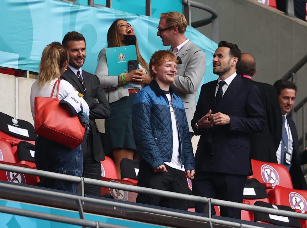Ed Sheeran and David Beckham