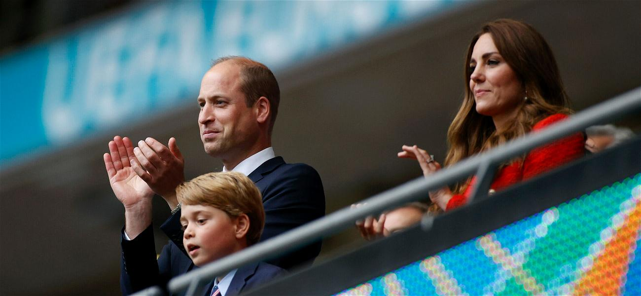 Twinning Is Winning! Prince William & Prince George Wear Matching Suits To Soccer Match