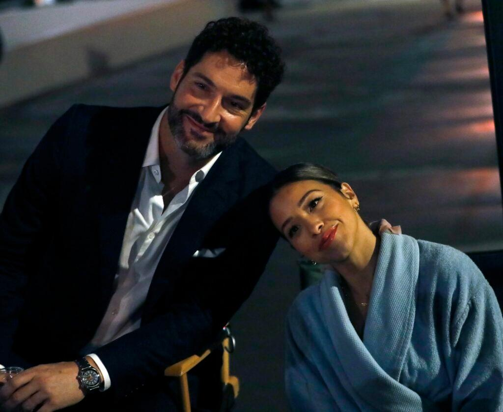 Gina Rodriguez and Tom Ellis filming quot Players quot in NY