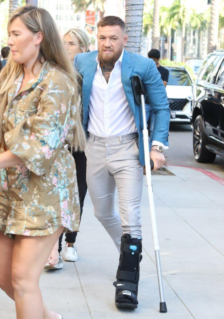 Conor McGregor takes fiance and family to Rodeo Drive