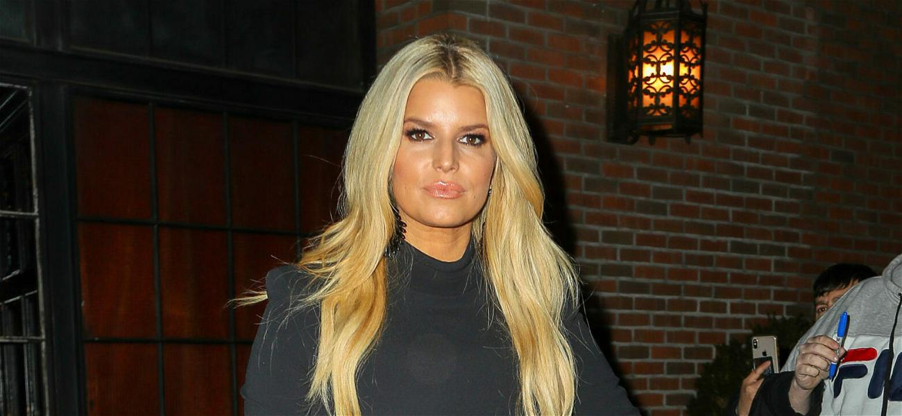 Jessica Simpson Ignites Pregnancy Talk After Flaunting Curves In Skintight Dress