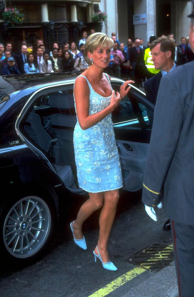 Princess Diana at Christies private viewing for Aids Charity