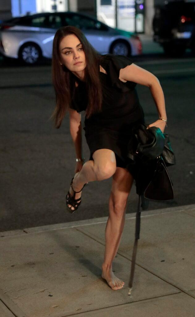 Mila Kunis on the set of quot Luckiest Girl Alive quot