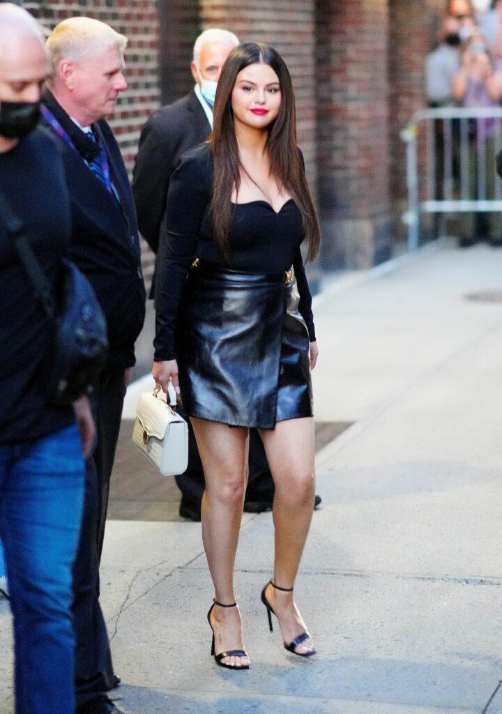 Selena Gomez at apos Stephen COlbert Show apos in New York