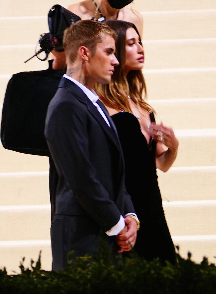 Justin Bieber and wife Hailey have a Mr amp Mrs Smith type moment as they show PDA at the Met Gala in NYC