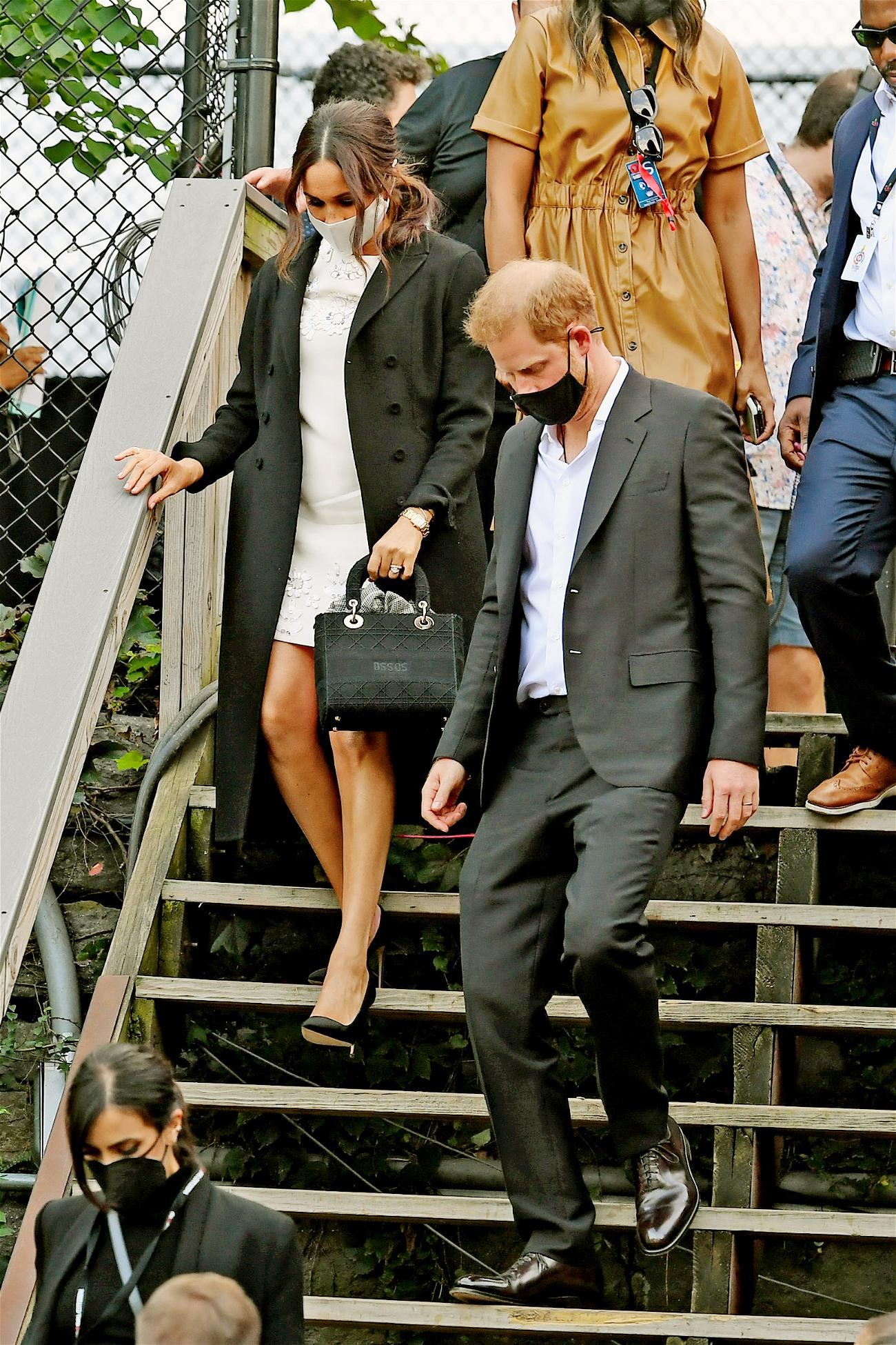 Prince Harry and Meghan Markle leave Global Citizen event in Central Park