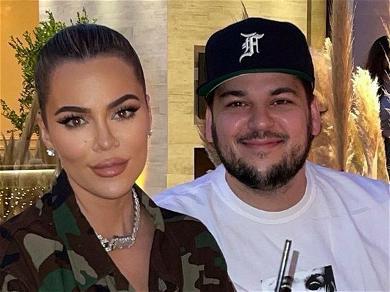 Kim Kardashian Shares Rare Photo Of Rob Kardashian Enjoying Family Dinner